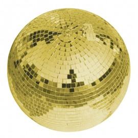 Zrcadlová koule 30 cm, zlatá