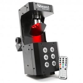 BeamZ LED Scan, 5x3W RGBAW + Strobo 6x1W,  DMX, IR, světelný efekt