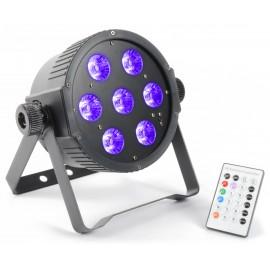 BeamZ LED FlatPAR 7x 18W RGBAWUV IR, DMX