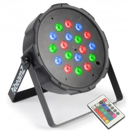 BeamZ LED FlatPAR 18x 1W RGB, IR, DMX