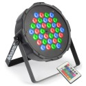 BeamZ LED FlatPAR 36x 1W RGB, IR, DMX