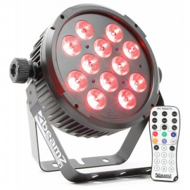 BeamZ LED FlatPAR 12x8W QCL, IR, DMX, černý