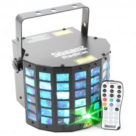 BeamZ LED Derby 6x3W RGBAWP, Laser, IR, DMX, světelný efekt