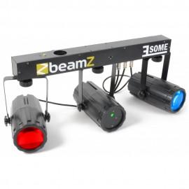 BeamZ LED KLS 2, 2x 57 RGBW LED, Laser 170mW RG, světelná rampa