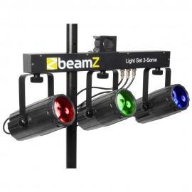 BeamZ LED KLS 3, 3x 57 RGBW LED, černá, světelná rampa