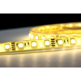 LED páska SMD5050, teplá bílá, 12V, 1m, IP68, 60 LED/m