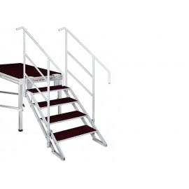 Schodiště pro výšku pódia 70-130 cm, 4 stupně