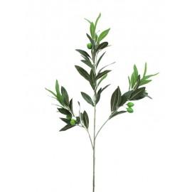 Olivová větvička, 6 oliv, 68 cm