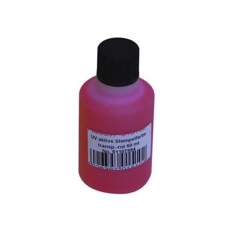 UV-active stamp ink, transp. red, 50ml