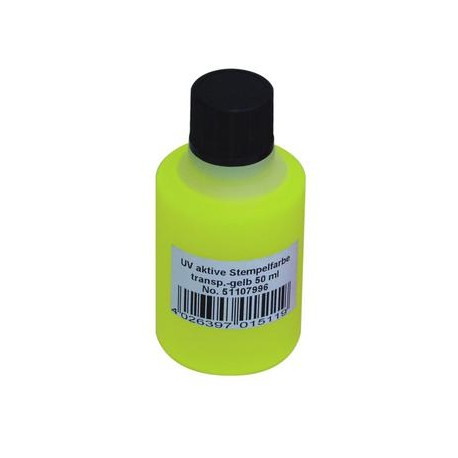 UV-active stamp ink, transp. yellow, 50ml